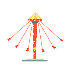 Swinging carousel with seats on chains vector