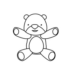 teddy bear cartoon infantile vector image