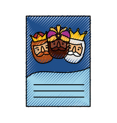 Three kings of orient letter epiphany vector