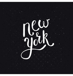 White new york texts on dotted black background vector