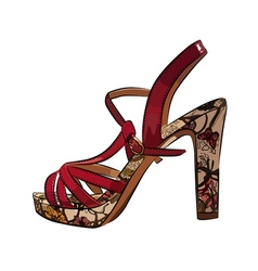 Colorful elegant womens high heel shoe vector