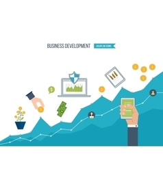 Business development finance report and strategy vector