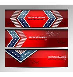 Usa banners template vector