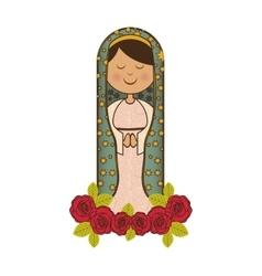 Virgin mary icon image vector