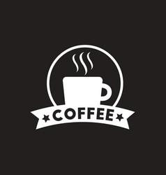 white icon on black background emblem of vector image