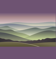 Sunrise  blurred mountain background vector
