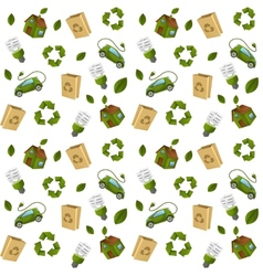 Eco technology pattern seamless vector