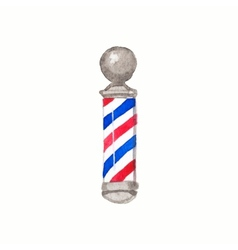 Barber pole watercolor barber poles on the white vector