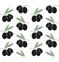 Olives Pattern vector image