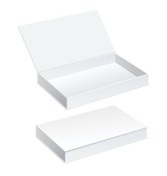 White Package Cardboard Box set vector image
