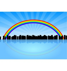 City rainbow vector