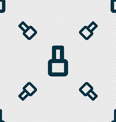 Number eight icon sign seamless pattern with vector