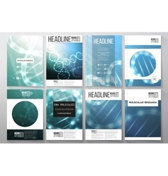 Set of business templates for brochure flyer or vector