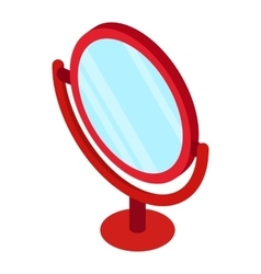 Round table mirror icon isometric 3d style vector