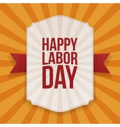 Happy labor day big white banner vector