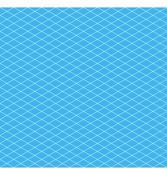White isometric grid on cyan seamless pattern vector image