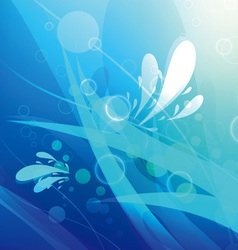 abstract underwater background vector image vector image