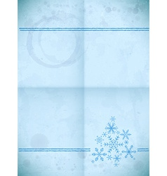 Aged paper card with snowflakes vector image vector image