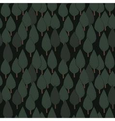 Autumn tree seamless pattern vector