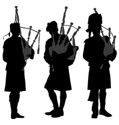Bagpiper Silhouette vector image