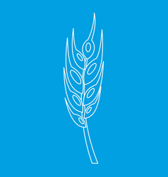 Barley spike icon outline style vector