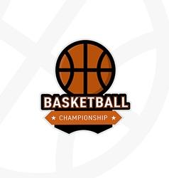 Basketball championship badge vector