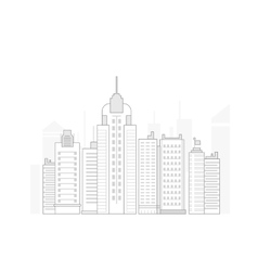 big line business city in flat style vector image