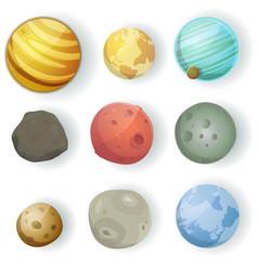 Cartoon planets set vector
