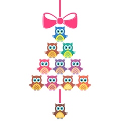 Cute merry christmas card vector image vector image
