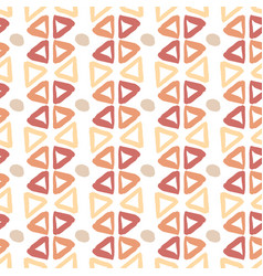 Ethnic hand drawn pattern with triangle ink vector