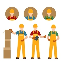 Factory people in uniform vector