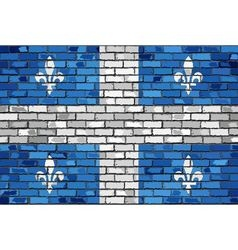 Flag of quebec on a brick wall vector