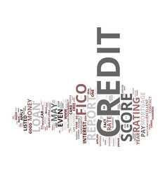 free credit report why you need one text vector image vector image