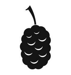fruit of mulberry icon simple style vector image