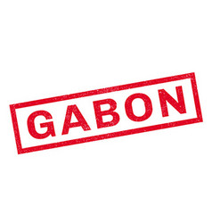 Gabon rubber stamp vector