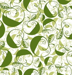 Green decorative curly seamless pattern with vector image vector image