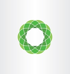 green polygon circle icon abstract background vector image vector image