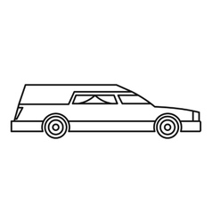 Hearse icon outline style vector