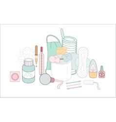 Hygiene elements groups vector image