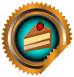 Icon of chocolate cake vector