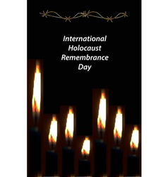 International holocaust remembrance day 27 january vector
