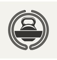 Kettlebell logo vector