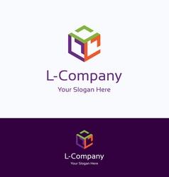 L company logo vector image