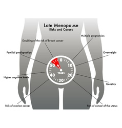 Late menopause vector