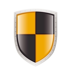 Metal shield with square figures vector