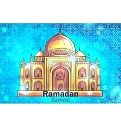 Mosque ramadan kareem background vector