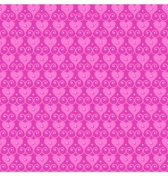 Pink seamless pattern with hearts and beads vector