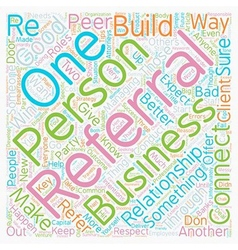 Rules of business referral etiquette text vector
