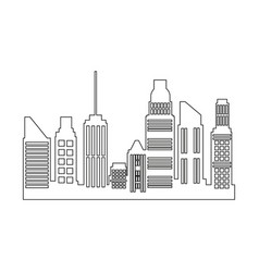 Skyscrapers building city business residential vector