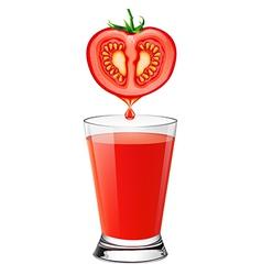 tomato juice vector image vector image